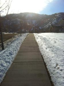 The Sun! and a shoveled sidewalk, thankfully.