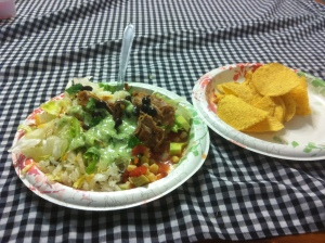 There's the best homemade salsa on the side too!