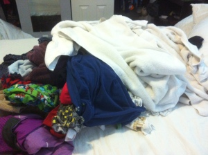 Only half of it. How can 3 people produce so much laundry?