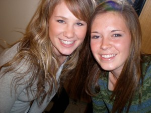 me and Amanda in college(we were roomies)
