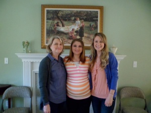 my mom, lil sis Bree, and me