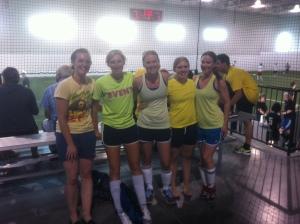 girls on the team: we won 5:4