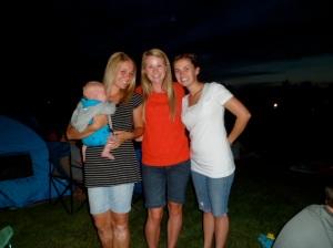 Jillian(Josh's cousin), me, Whitney(SIL), Whit's new babe