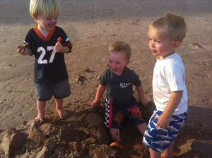 J and cal and their second cousin Lance, the three amigos