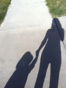 on a walk with my bud
