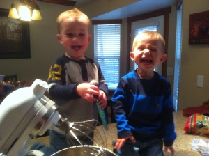the boys were so excited to help me make cookies