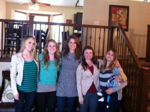 Leah, me, Sarah, Neeley, Bree and Mason