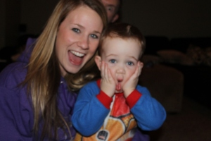 silly faces and Josh's eye haha
